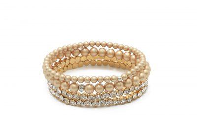 bruidsarmband 4 Bracelet set 651 GOLD