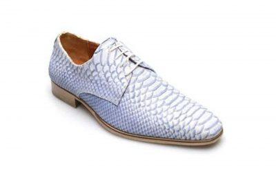bruidegom schoenen Anaconda blue
