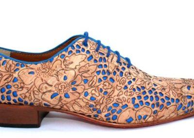bruidegom schoenen Kurk blauw