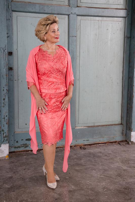 Feestkleding roze/rood