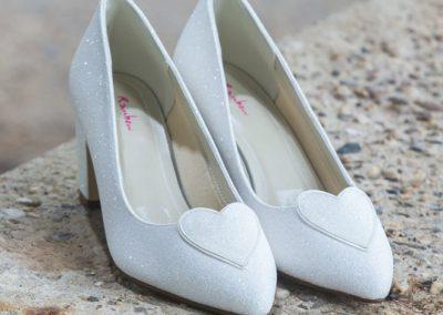 Witte trouwschoenen